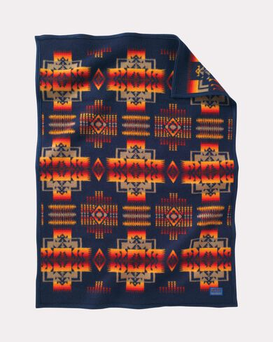 CHIEF JOSEPH CRIB BLANKET, NAVY, large