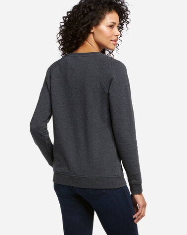 CREW SWEATSHIRT, CHARCOAL HEATHER, large