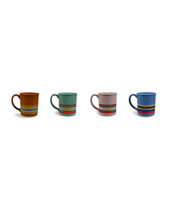 CAMP STRIPE MUGS, SET OF 4