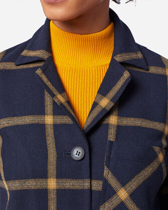 ADDITIONAL VIEW OF THE '49ER RETRO JACKET IN NAVY/GOLD WINDOWPANE