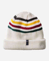 REVERSIBLE NATIONAL PARK STRIPE BEANIE IN GLACIER STRIPE