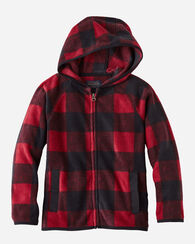 KIDS' FULL ZIP HOODIE, RED BUFFALO CHECK, large