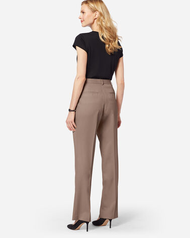 ADDITIONAL VIEW OF SEASONLESS WOOL LINED STRAIGHT LEG PANTS IN TRUFFLE