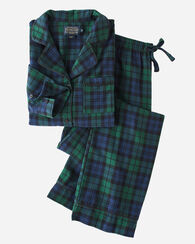 FLANNEL PJ SET, BLACK WATCH TARTAN, large