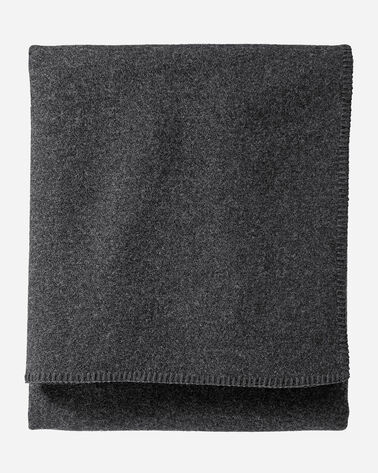 ECO-WISE WOOL SOLID BLANKET, CHARCOAL MIX, large