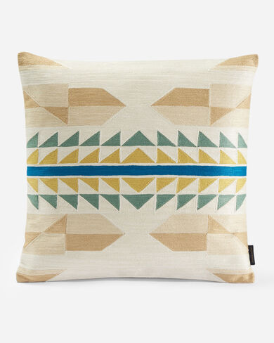 FOSSIL SPRING CREWEL SQUARE PILLOW IN BLUSH MULTI