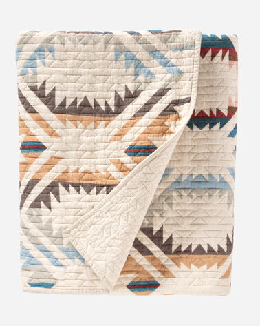 WHITE SANDS PRINTED QUILT SET