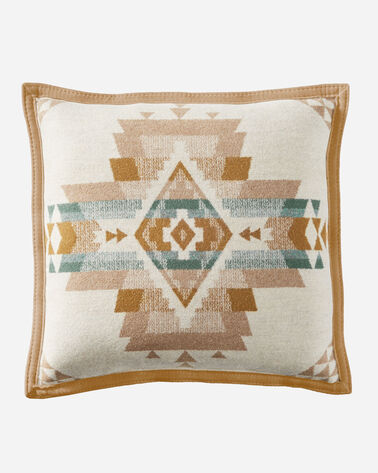 ALTERNATE VIEW OF ROCK POINT PILLOW IN IVORY