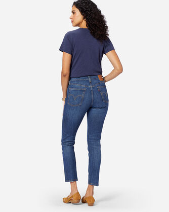 ADDITIONAL VIEW OF LEVI'S 501 SKINNY NEAT FREAK JEANS IN DARK BLUE