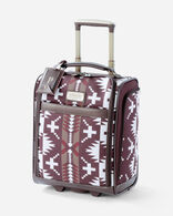 16-INCH SPIDER ROCK ROLLING TOTE IN BURGUNDY