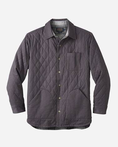 REVERSIBLE CANVAS JACKET, CHARCOAL GREY/BLACK/GRE, large