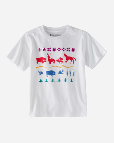 KIDS' GRAPHIC TEE IN WHITE