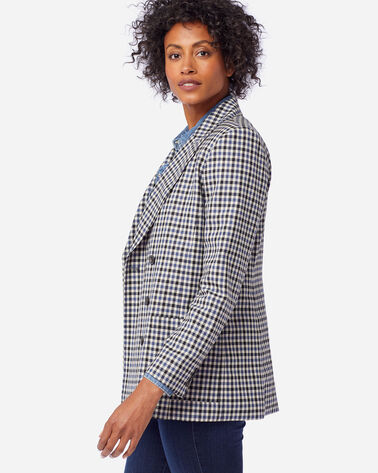 ALTERNATE VIEW OF WOMEN'S AIRLOOM MERINO PRESTON BLAZER IN BLUE HORIZON/BLCK/IVORY