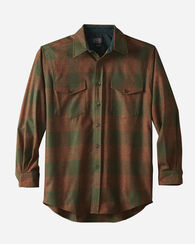GUIDE SHIRT, RUST MIX/GREEN BUFFALO, large