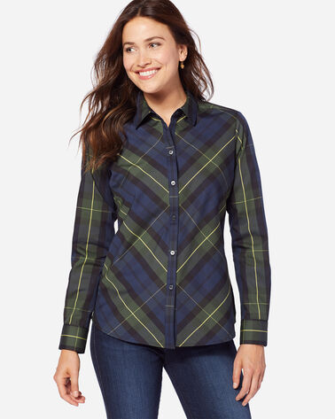 TINA BIAS PLAID SHIRT, LENOX PLAID, large