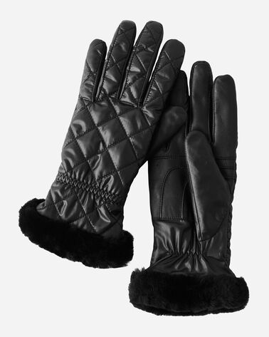LEATHER POM TECH GLOVES