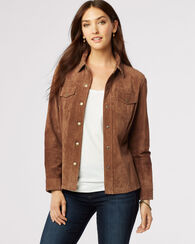 SONORA SUEDE JACKET, SAND, large