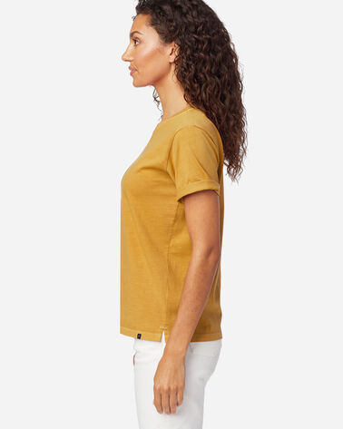 ALTERNATE VIEW OF WOMEN'S DESCHUTES TEE IN MUSTARD