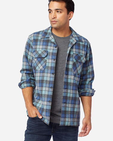 MEN'S BOARD SHIRT IN BLUE ORIGINAL SURF PLAID