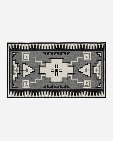 ADDITIONAL VIEW OF NASKAN SADDLE BLANKET IN BLACK/IVORY