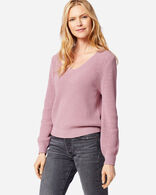 WOMEN'S EMILIE V-NECK SWEATER IN LAVENDER