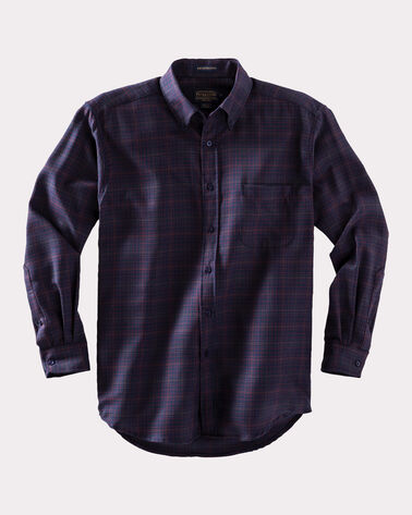 SIR PENDLETON WOOL SHIRT, NAVY/COPPER PLAID, large