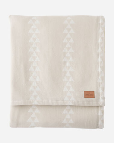TRIANGLE TRAIL COTTON BLANKET IN BEIGE