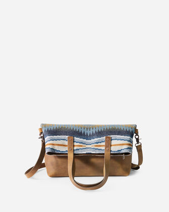 ALTERNATE VIEW OF CRESCENT BAY LONG TOTE IN INDIGO