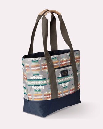 CHIEF JOSEPH CANOPY CANVAS TOTE, GREY, large