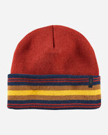 NATIONAL PARK STRIPE BEANIE IN ZION RED