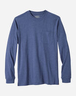 MEN'S LONG-SLEEVE DESCHUTES POCKET TEE IN NAVY HEATHER
