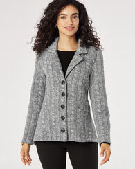 5-BUTTON KNIT JACKET, SILVER GREY, large