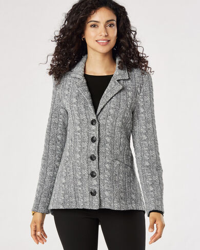 5-BUTTON KNIT JACKET