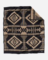 BASKET MAKER BLANKET IN BLACK