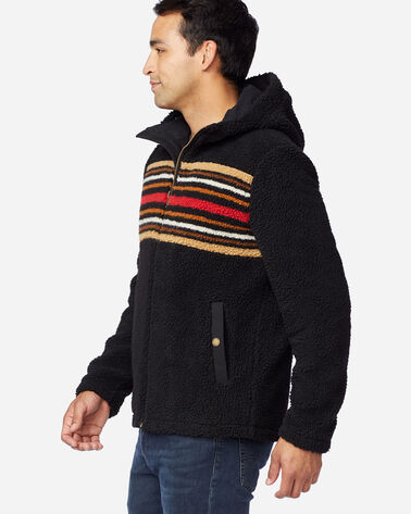 ALTERNATE VIEW OF MEN'S DESCHUTES SHERPA JACKET IN BEECH STRIPE