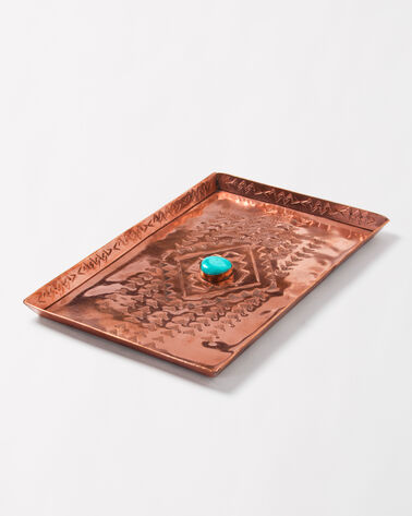 HAND STAMPED TRAY, COPPER, large