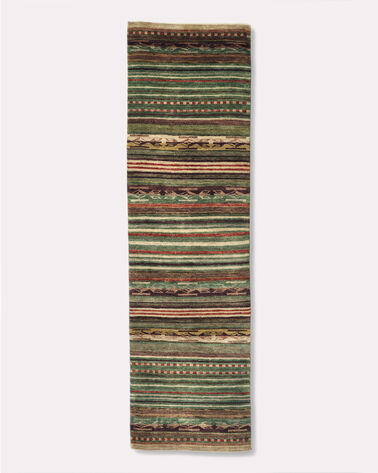 HANDMADE CHIMAYO RUG in CORAL/NATURAL STRIPE