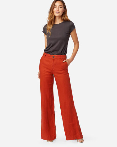 WOMEN'S WIDE LEG LINEN PANTS