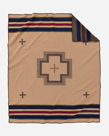 ADDITIONAL VIEW OF SHELTER BAY BLANKET IN BROWN
