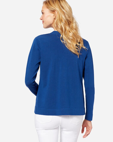 ADDITIONAL VIEW OF CLARICE CARDIGAN IN ROYAL BLUE