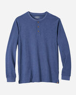 MEN'S LONG-SLEEVE DESCHUTES HENLEY IN NAVY HEATHER