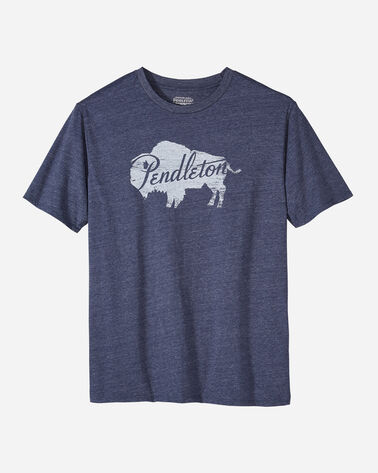 MEN'S BUFFALO LOGO GRAPHIC TEE IN NAVY HEATHER