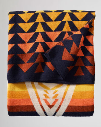 ALTERNATE VIEW OF HARDING KNIT THROW IN NAVY