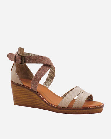 ALTERNATE VIEW OF WOMEN'S BAYLANDS STRAPPY WEDGES IN FEATHER