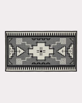 NASKAN SADDLE BLANKET, BLACK/IVORY, large