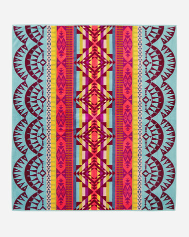 POINT REYES TOWEL FOR TWO, AQUA MULTI, large