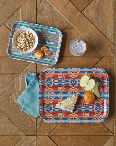 ADDITIONAL VIEW OF BIRCHWOOD JACQUARD TRAY SET IN MULTI
