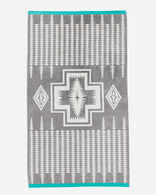 HARDING JACQUARD SPA TOWEL IN GREY