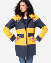 WOMEN'S SIGNATURE SEASIDE JACKET, NAVY/YELLOW, large