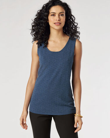 BRIDGETTE DOT TANK, STEEL BLUE, large